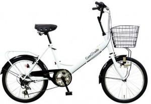 マンションの玄関に入る大人向けの自転車
