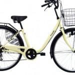 スカートで乗りやすい自転車【SHIKISHIMA ロゼリー】<送料無料>