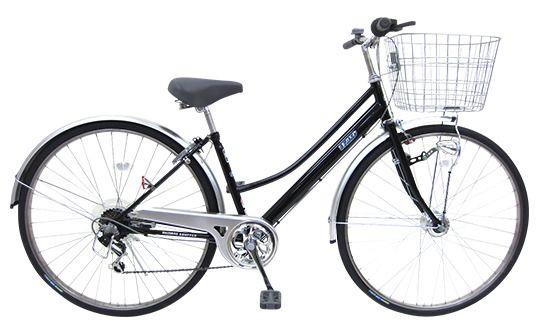 ノーパンクタイヤの通学自転車ウェーブセスト