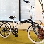 女性に人気の折りたたみ自転車【CymaZoo-パンダモデル-】<モノトーンカラー>