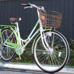黄緑のシティサイクル【クシュクシュタウン】<送料無料>