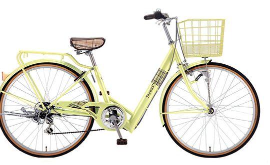 黄色おしゃれ自転車