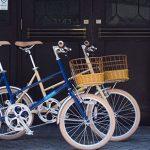置き場所がコンパクトな自転車mimosa【小さめで乗りやすい】<送料無料>