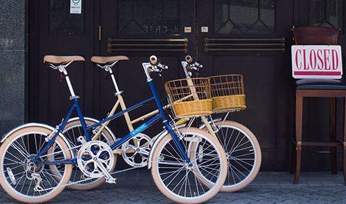 置き場所がコンパクトな自転車