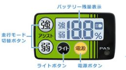 PAS ワゴンの液晶画面