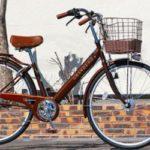 グランディーノtyの感想・口コミ【チョコレート色がオシャレな自転車】<送料無料>